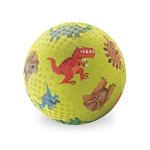bal klein dinosaurus groen, crocodil Creek, natuurrubber, natuur rubber, ball, wonderzolder.nl