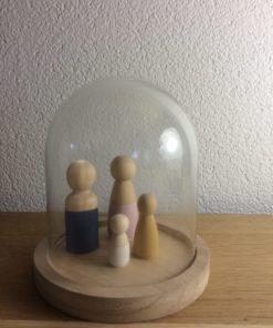 mini small stolp, glazen stolp houten poppetjes, wonderzolder.nl