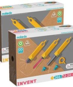 invent set makedo, schoolset makedo, bouwen met karton, wonderzolder.nl