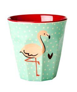 Rice flamingo beker melamine Wonderzolder