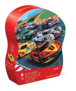 puzzel racen, at the races, crocodile creek, shaped puzzle, wonderzolder.nl