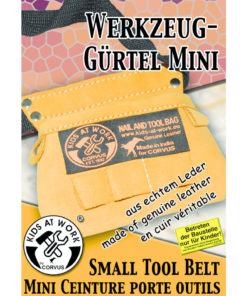 lege gereedschapsgordel klein, kids at work, Corvus toys, echt gereedschap, wonderzolder.nl