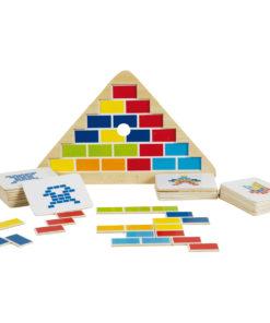 Triangel puzzel, na bouw puzzel, goki, puzzelen, wonderzolder.nl