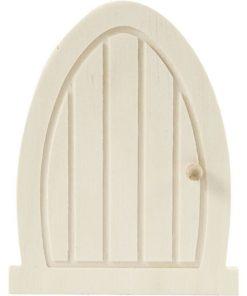 houten deurtje blanco ronde boog, magisch deurtje, wonderzolder.nl