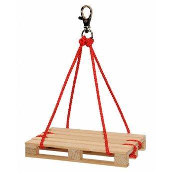 takel met mini pallet, mini takel, zwaartekracht, takelen, kids at work, corvus toys, wonderzolder.nl