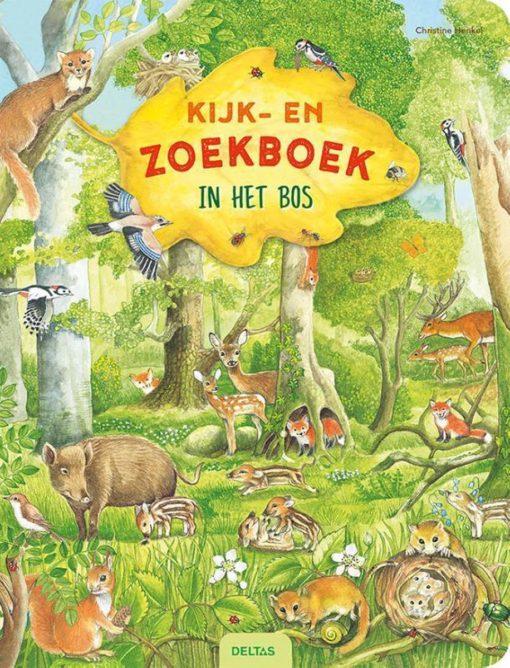 zoekboek in het bos, zoek en ontdek, uitgeverij Deltas, bos, wonderzolder.nl