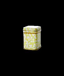 klein theeblikje, RICE, bloemenprint, Jar, wonderzonderzolder.nl