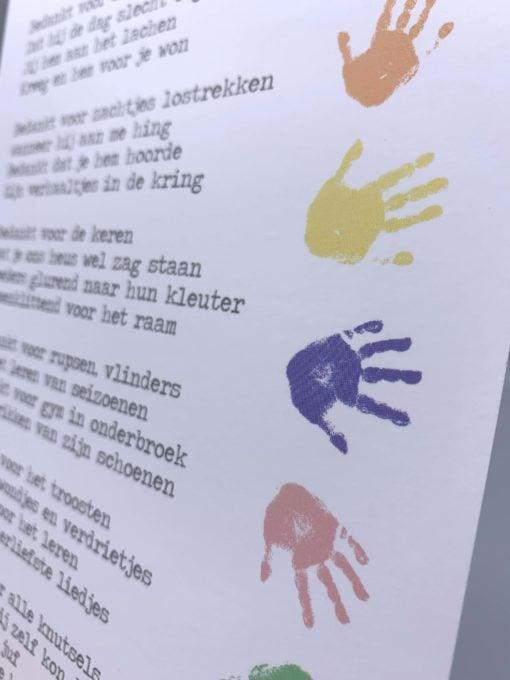 kaart kleuterjuf, jongen, meisje, einde schooljaar, bedankje, lentezoet, wonderzolder.nl