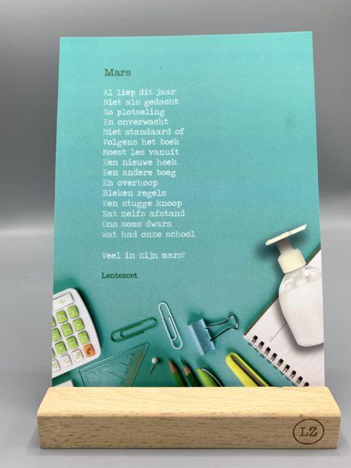 mars, lentezoet, school, einde schooljaar, ode meester, juf, wonderzolder.nl