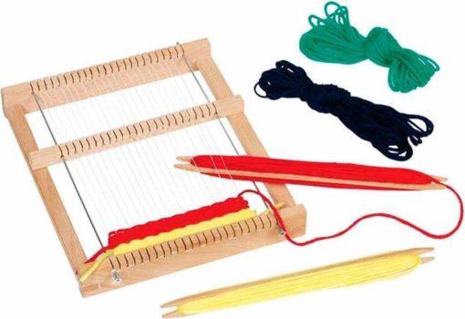 Weefgetouw rechthoek, goki, weven, Weaving loom, wonderzolder.nl