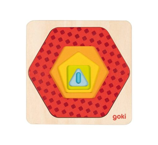 puzzel geometrisch laagjes, goki, puzzel, laagjes puzzel, wonderzolder.nl