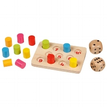 mini spel shut the box, goki, rekenen, spelletje, reis editie, wonderzolder.nl