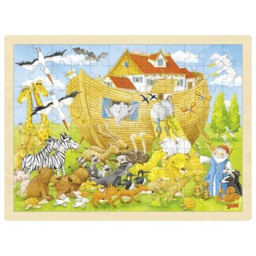 XXL puzzel ark van Noach, boot, dieren, Goki, Puzzelen, wonderzolder.nl