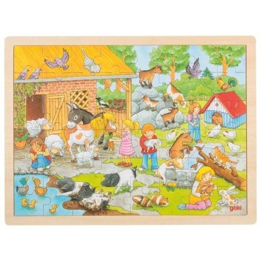 XXL Puzzel Kinderboerderij, Goki, Petting zoo, puzzel, wonderzolder.nl
