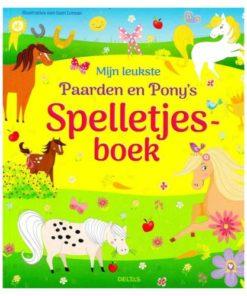 Mijn leukste paarden en pony's spelletjesboek, kleurboek, deltas, wonderzolder.nl