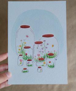 spring in a jar, lente, carmens tekentafel, feel-good, poster, wonderzolder.nl