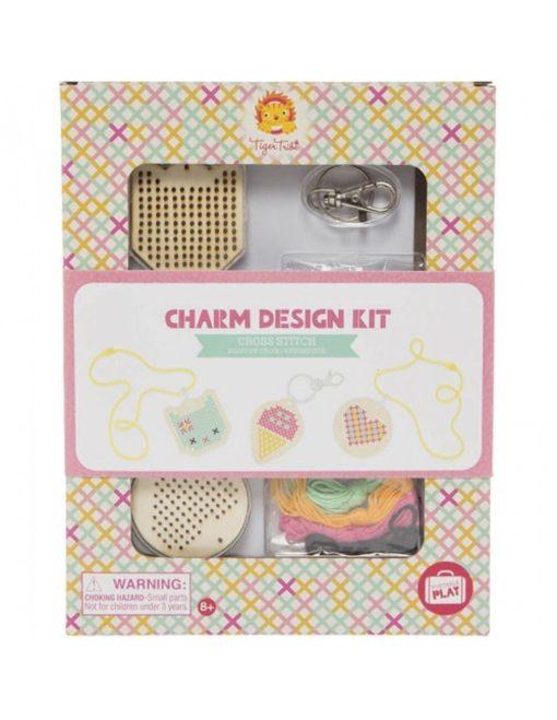 charm kit kruissteek, creatief, knutselen, sieraden maken, Tiger Tribe, wonderzolder.nl
