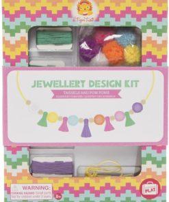 Jewellery Kit Pompons & Kwastjes, Tiger Tribe, DIY, Knutselset, wonderzolder.nl