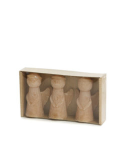 Kleine fudge Engel Silhouette kaars , Sculpture candle, Angel, kerst, wonderzolder.nl